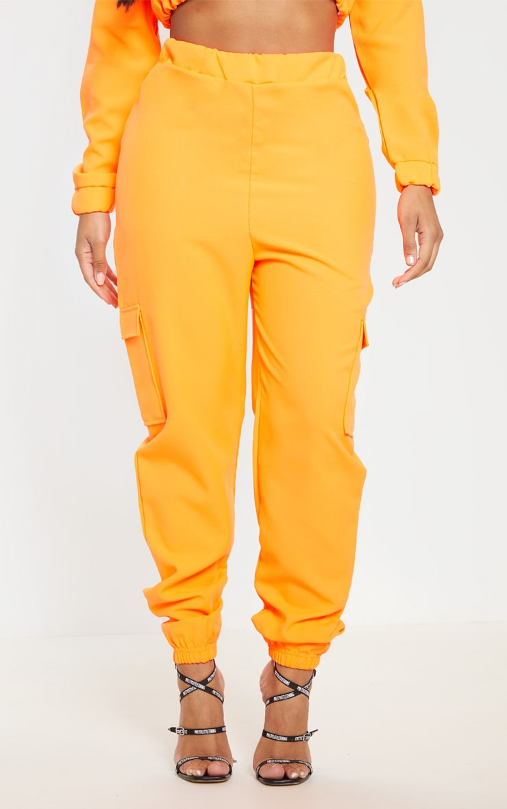 Shape Neon Orange Utility Jogger 2