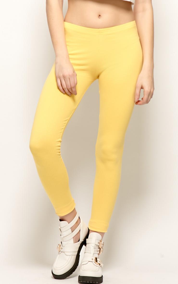 Harriet Yellow Basic leggings-S 2