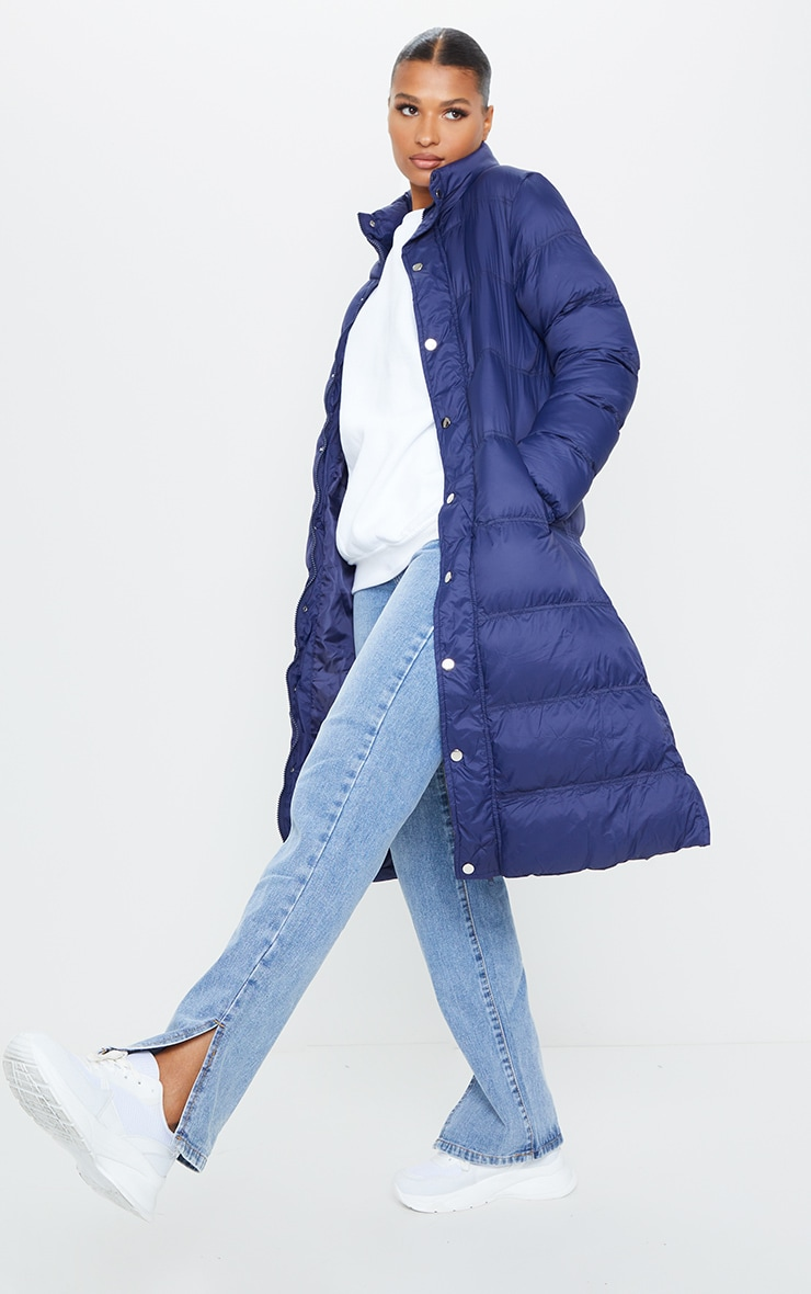 Navy Maxi Fitted Puffer 1