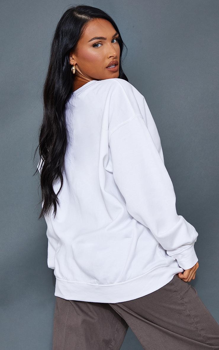 White Colorado Print Oversized Sweatshirt 2