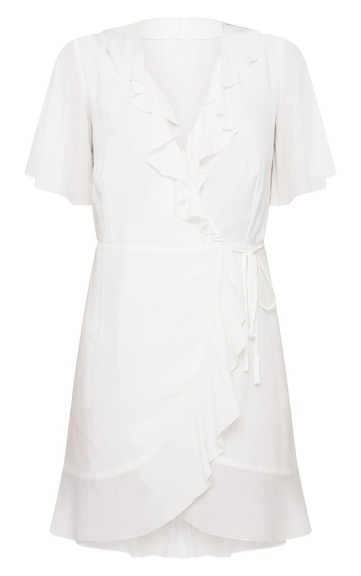 White Wrap Dress 3