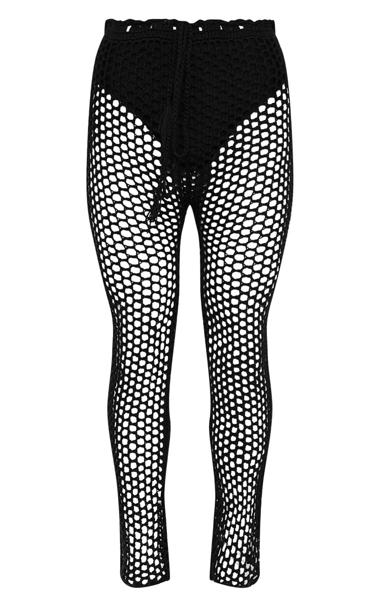 Black Crochet Trousers 6