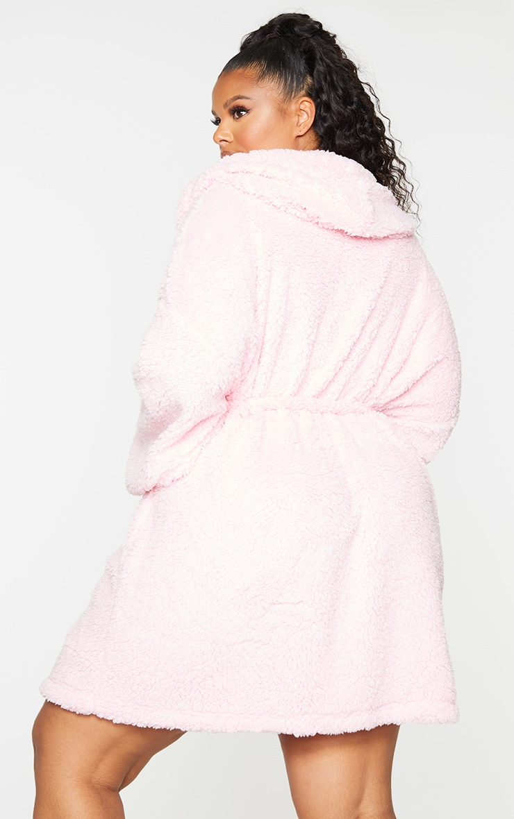 Plus Pink Borg Dressing Gown 2