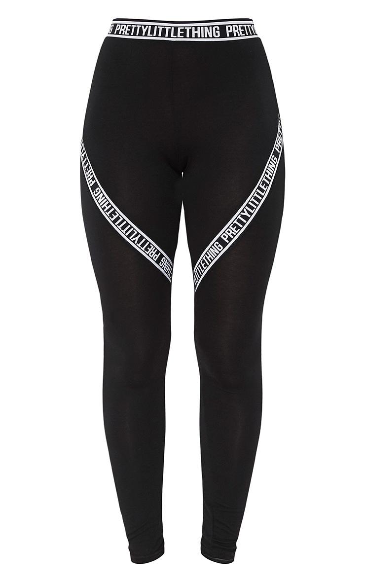 Leggings noirs avec slogan PRETTYLITTLETHING 3