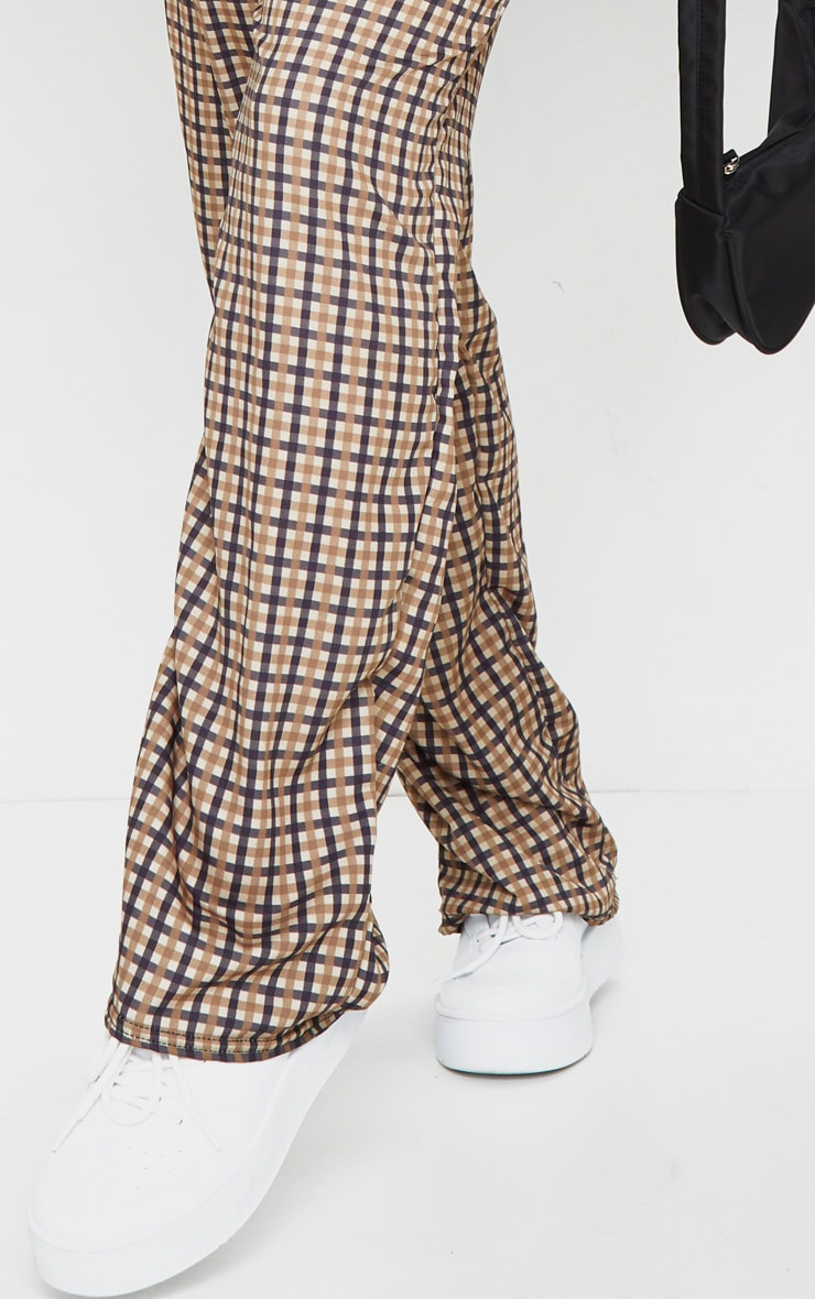 Stone Checked Wide Leg Pants 4