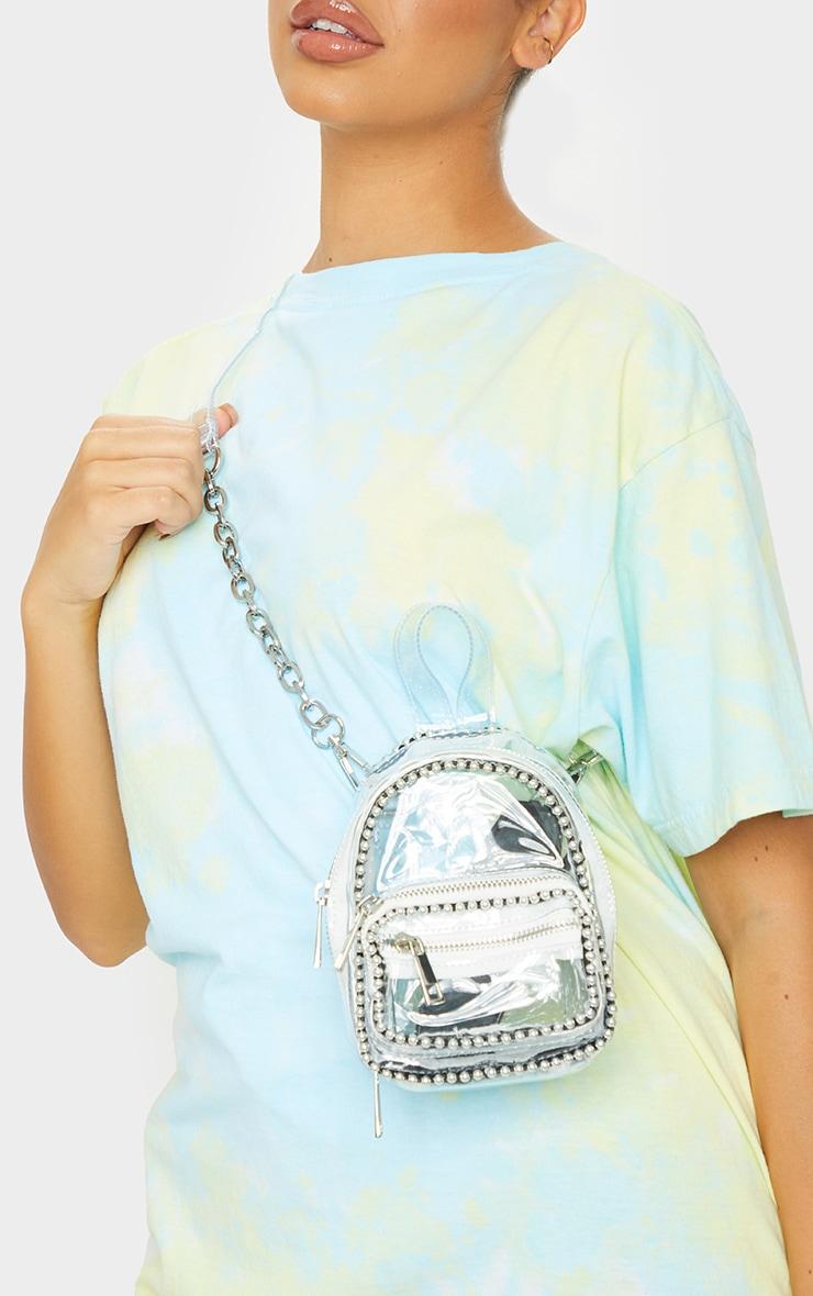Clear Ball Chain Border Mini Backpack 1