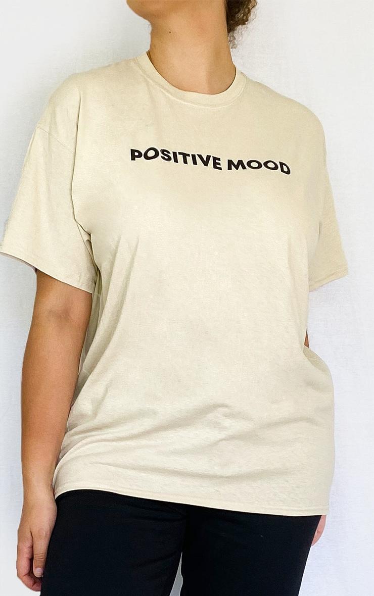 Plus Stone Positive Mood Slogan T Shirt 4
