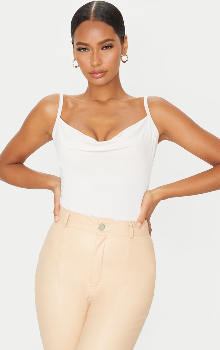 Nude Soft Touch Cowl Neck Bodysuit 1