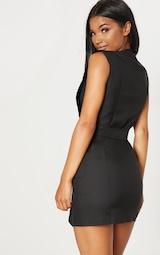527e78c4aa7 Black Sleeveless Gold Button Detail Blazer Dress image 2