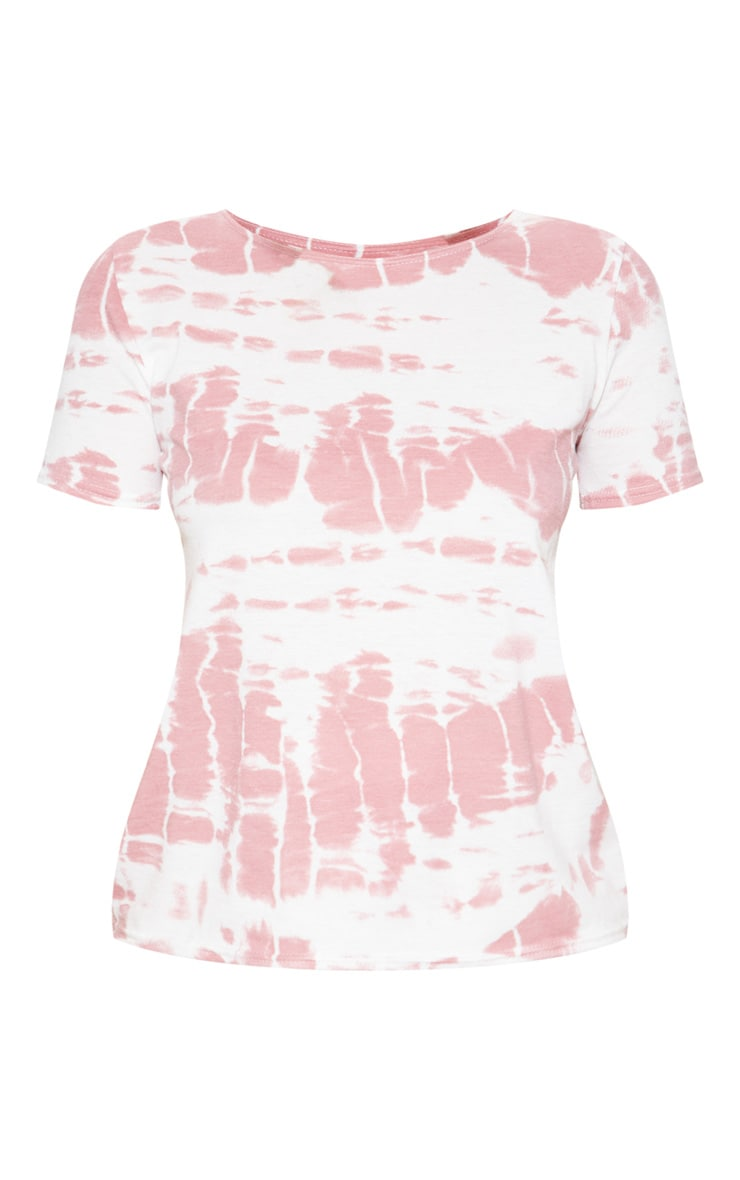 Pink Mix And Match Tie Dye Short Sleeve Pj Top  3
