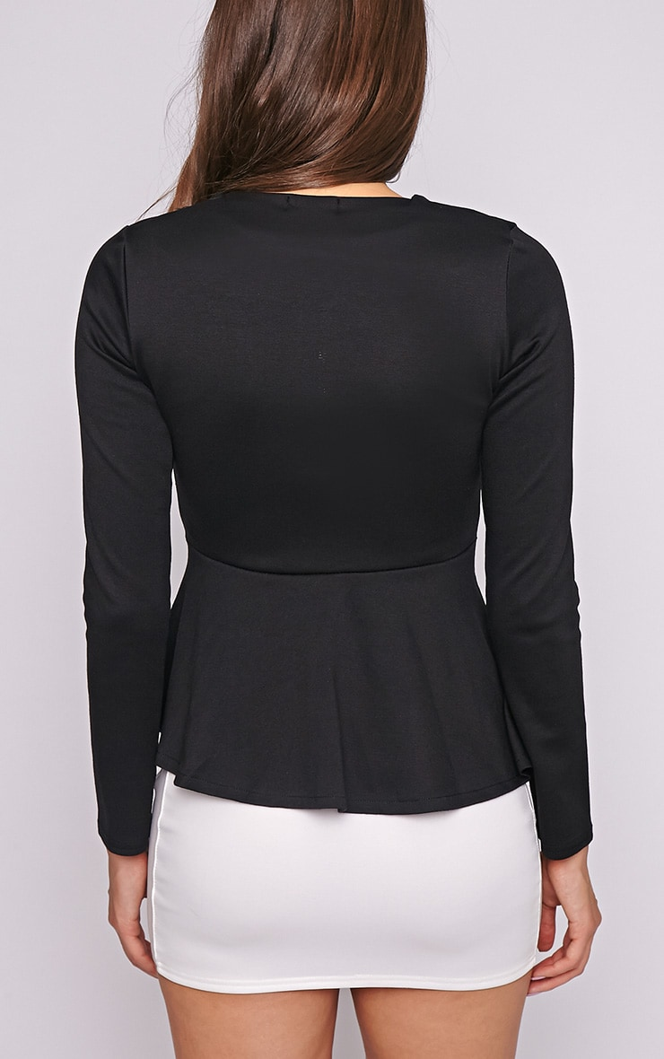 Marcela Black Peplum Blazer 2