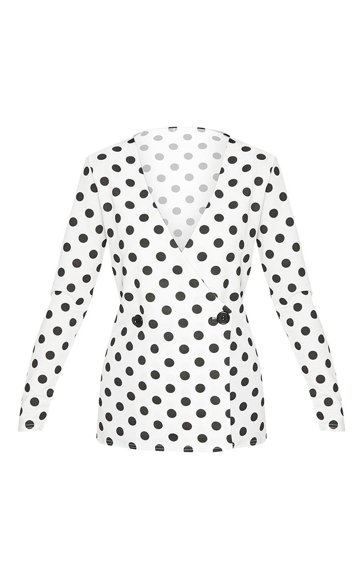 White Polka Dot Blazer  3