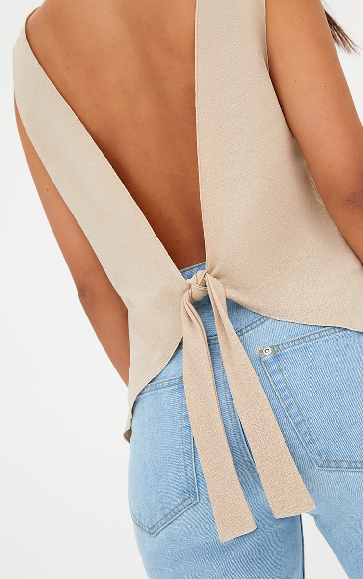 Nude Bow Back Sleeveless Top 5