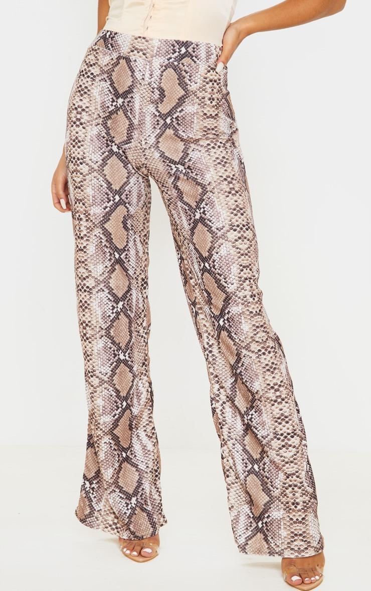 Stone Velvet Snake Wide Leg Pants 2