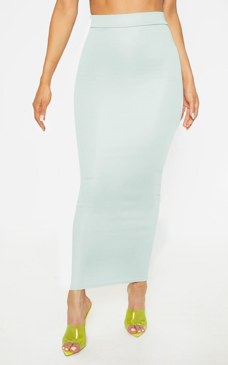 Light Grey High Stretch Maxi Skirt 2