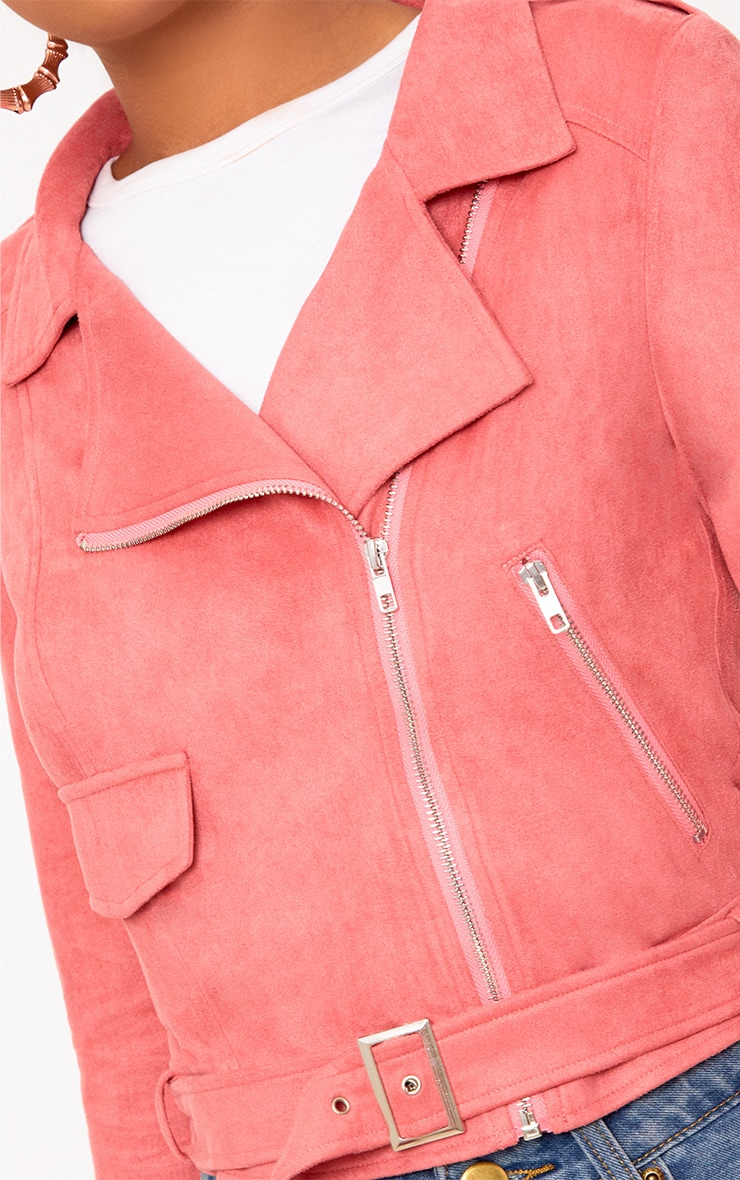 Niki Rose Faux Suede Biker Jacket 5