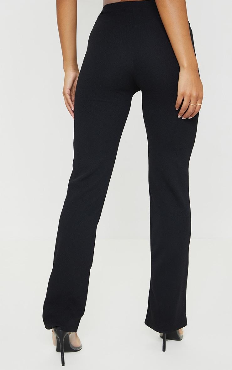 Black Straight Leg Suit Trousers 3