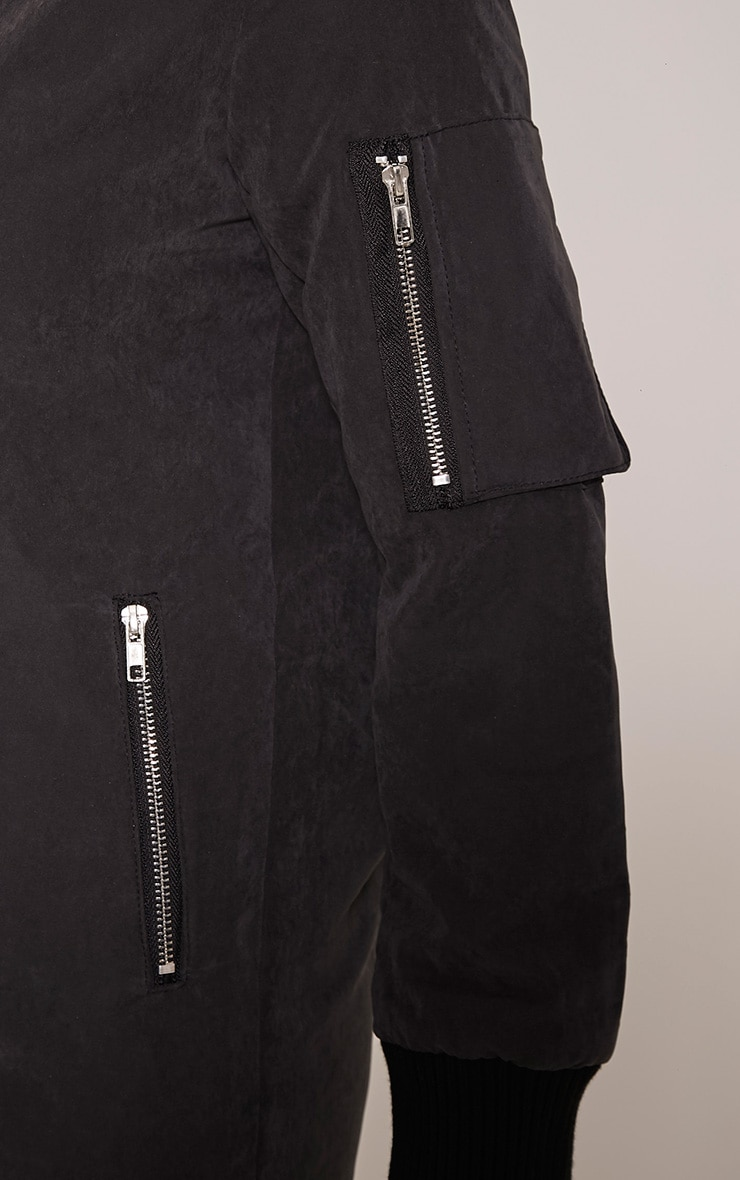 Bailey Black Longline Padded Coat 5