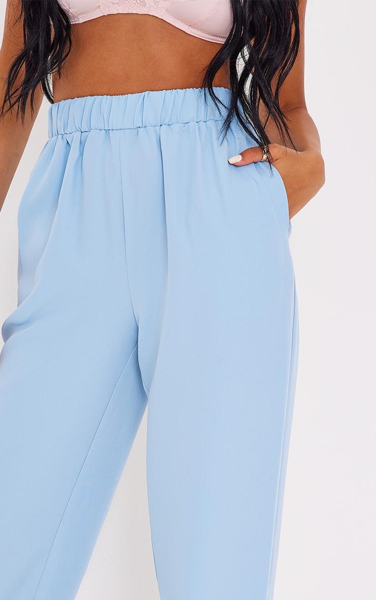 Tall - Pantalon évasé bleu à taille élastique 4