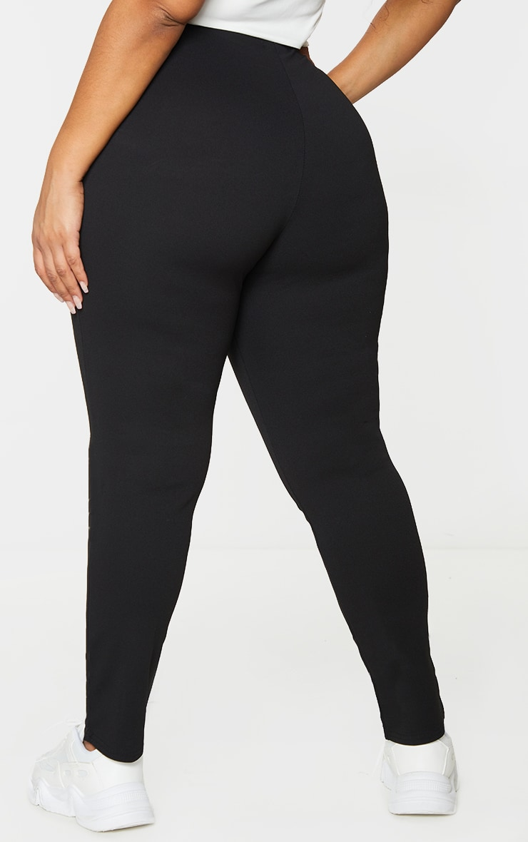 PLT Plus - Pantalon slim en crêpe noir 3