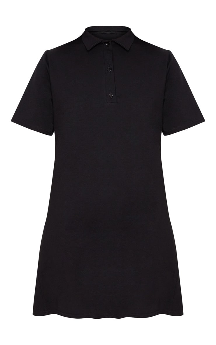 Black Polo Shirt Dress 3