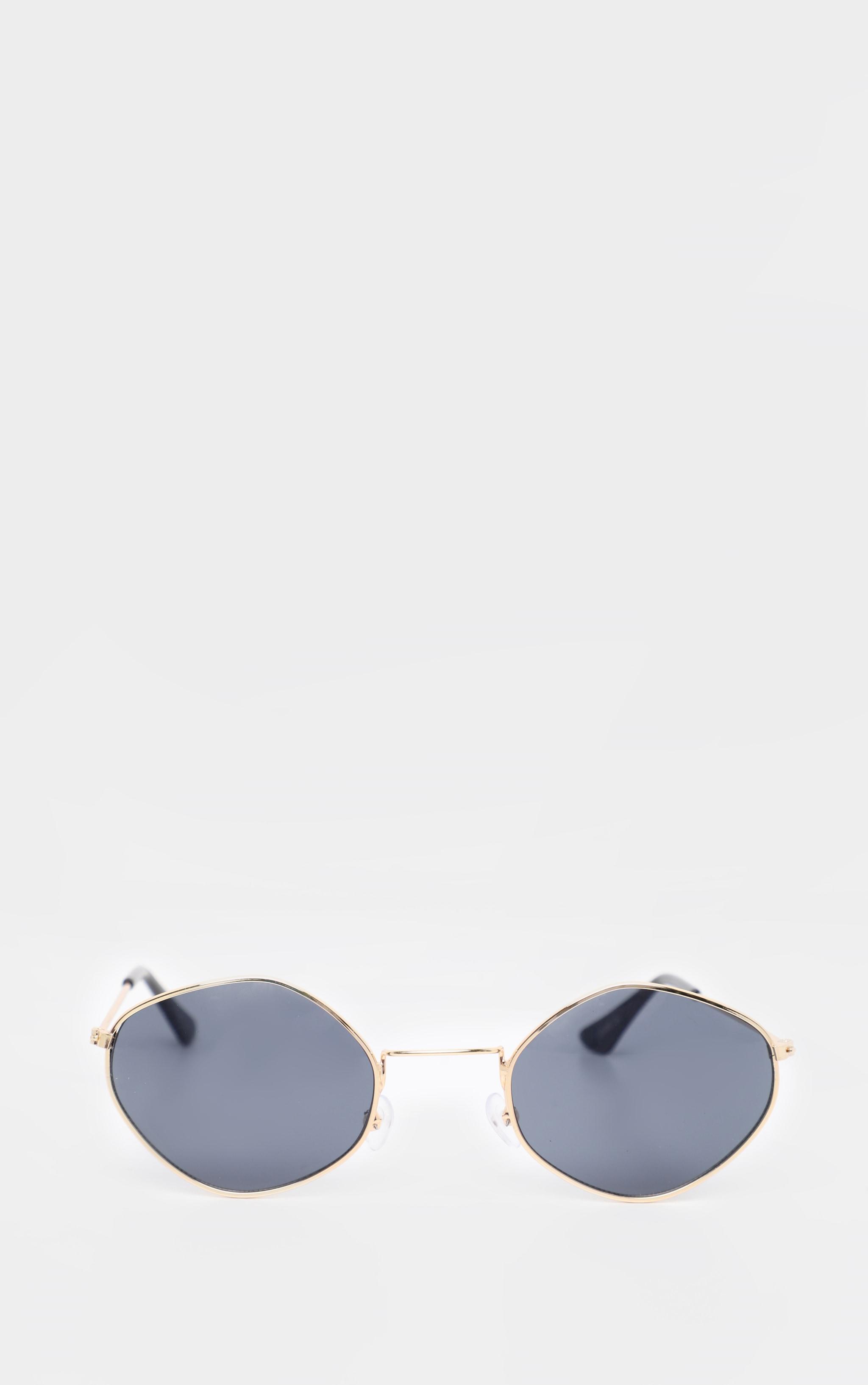 Grey Hexagon Shape Glasses 2