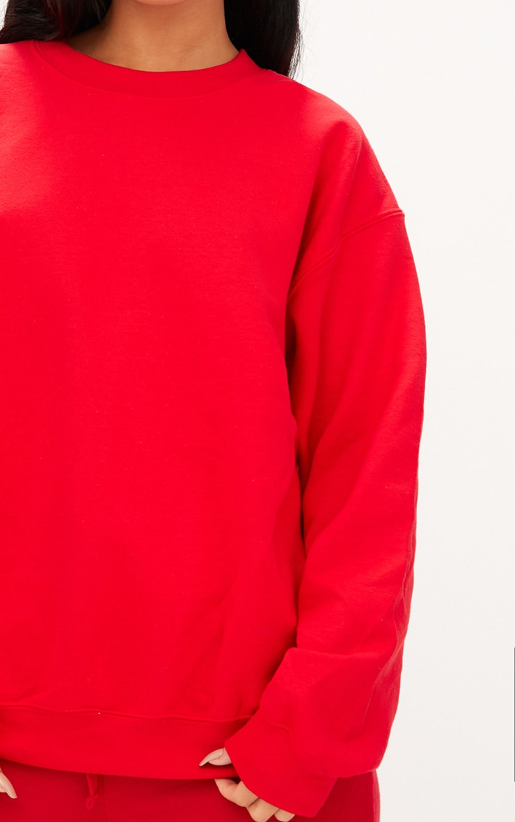 Red Ultimate Oversized Sweater 6