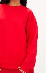Red Ultimate Oversized Sweatshirt 6