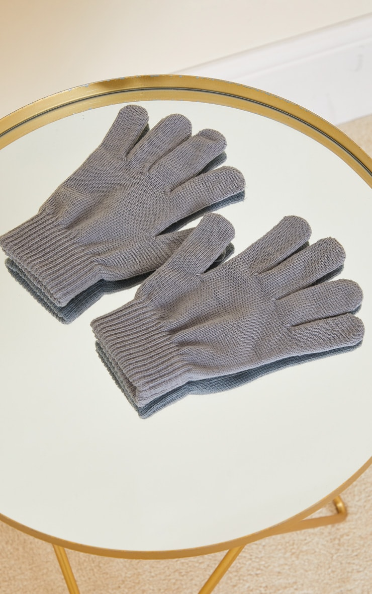 Grey Recycled Gloves 3