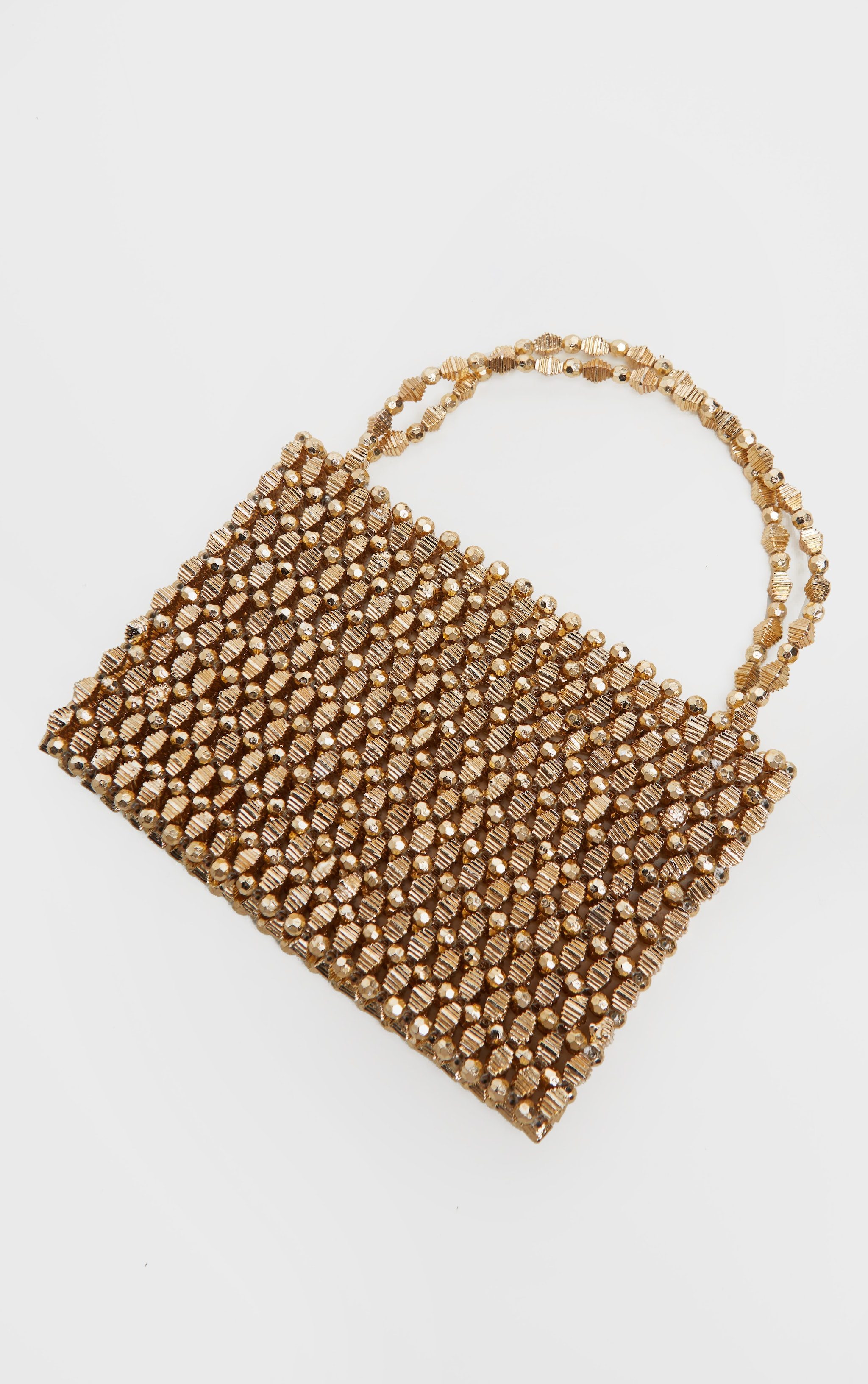 Gold Metallic Beaded Mini Bag 2