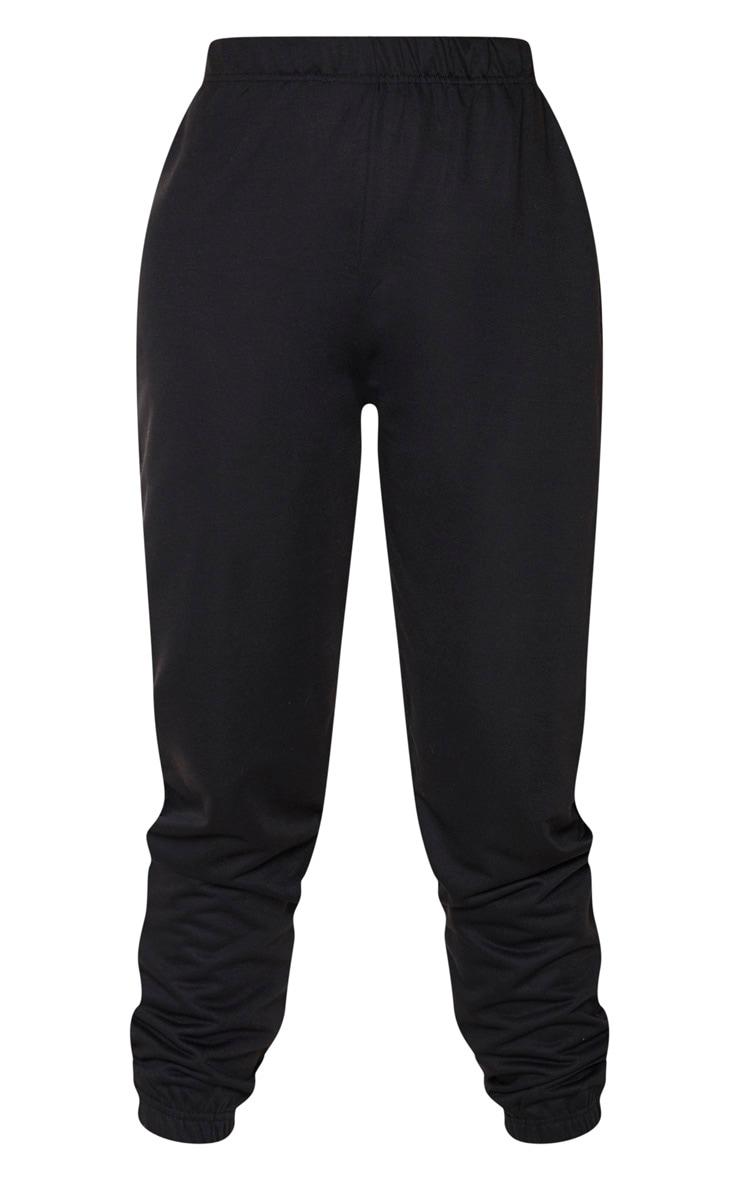 Tall Black Basic Cuffed Hem Joggers 5