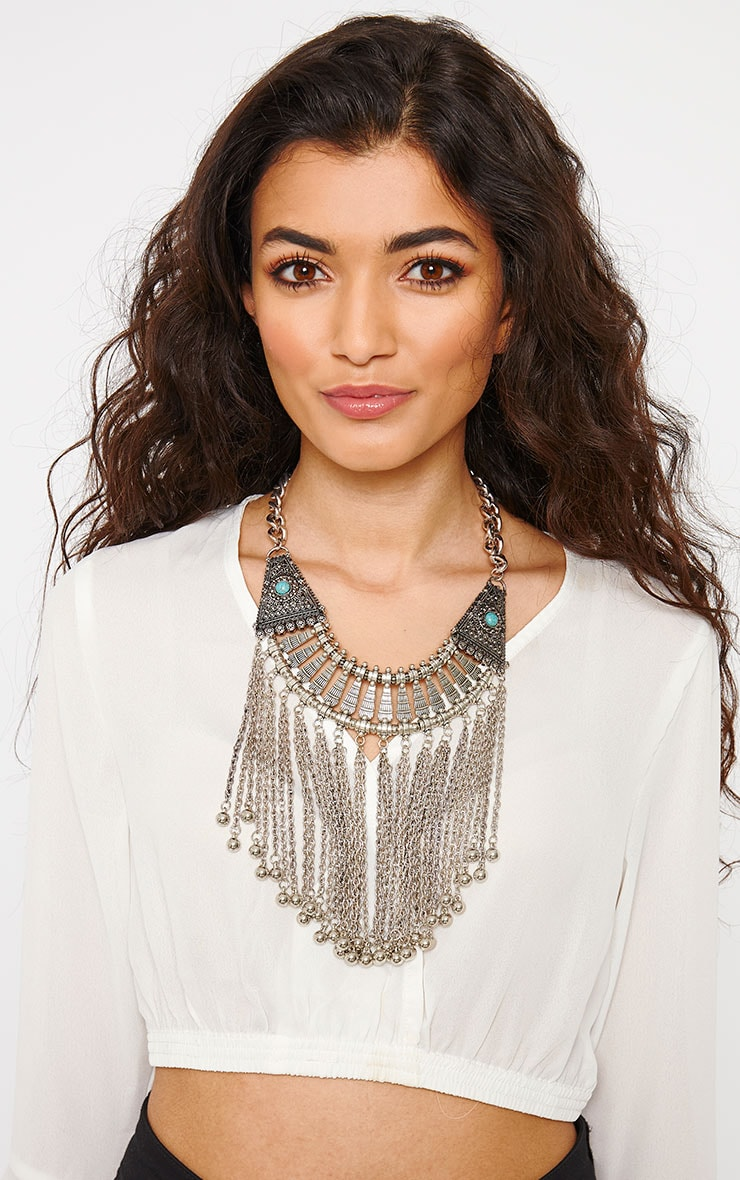 Hali Silver Tassel Necklace 1