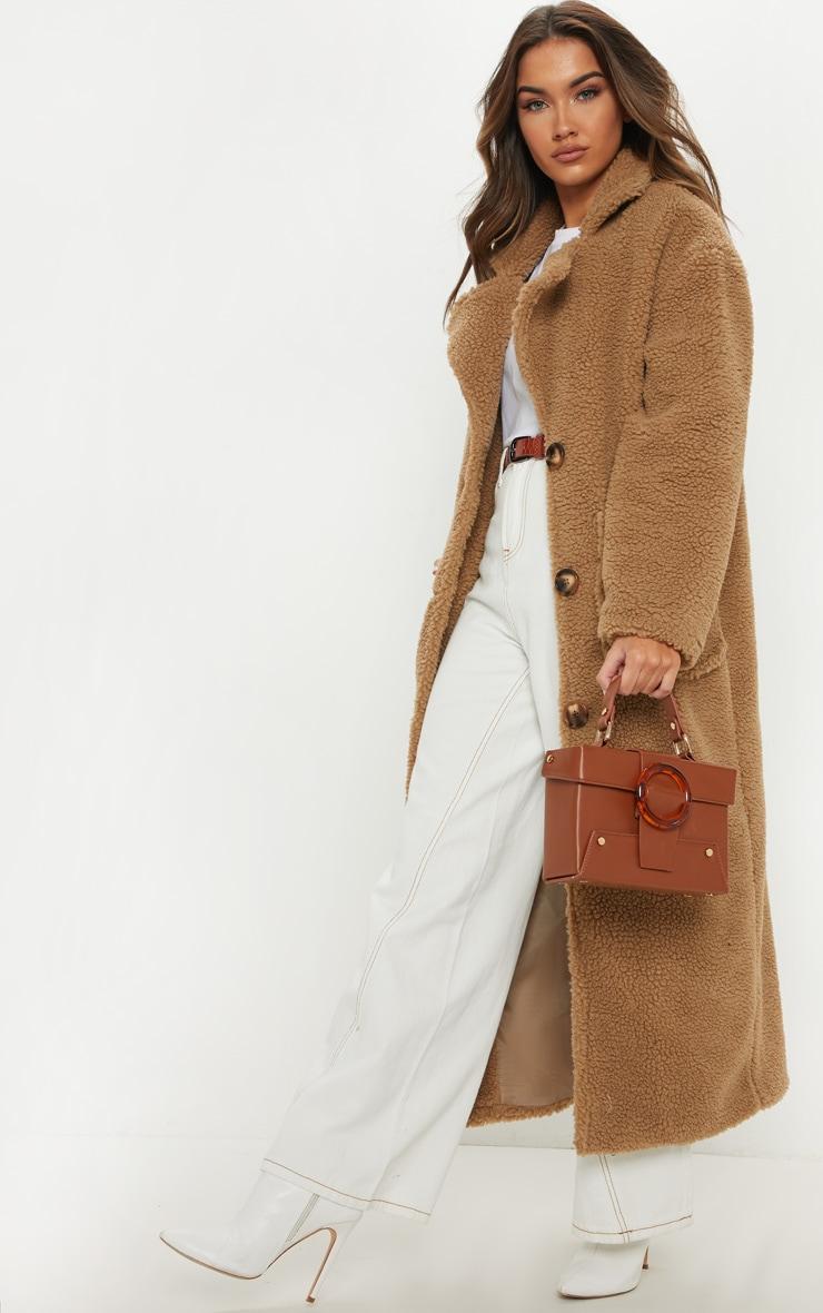 Camel Maxi Borg Coat 3