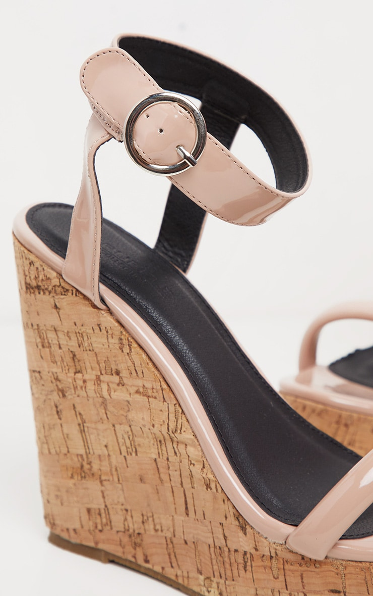 Nude Tube Strap Wedge  4