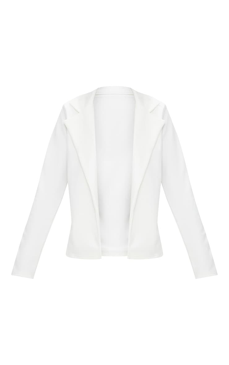 Cream Crop Blazer 3