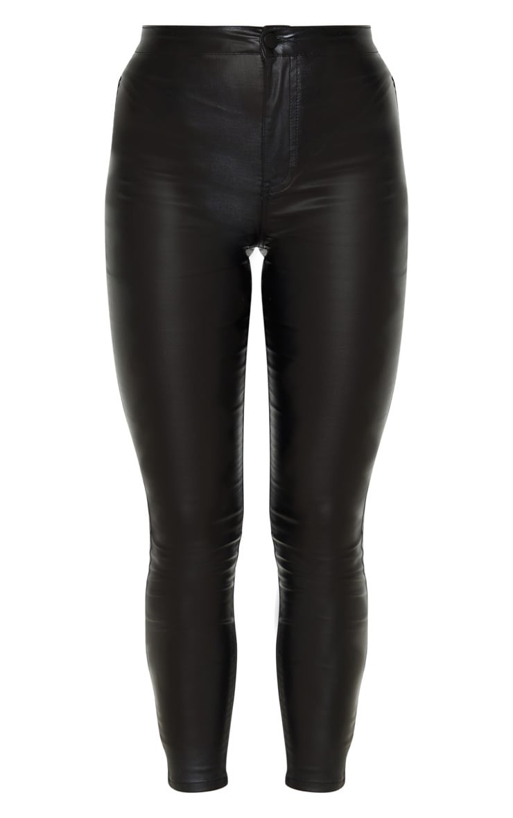 Coated Black Disco Skinny Jeans 1