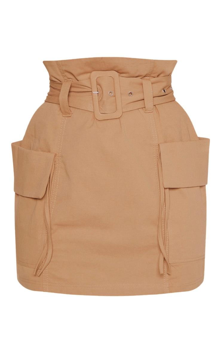 Petite Stone Belted Cargo Skirt 3
