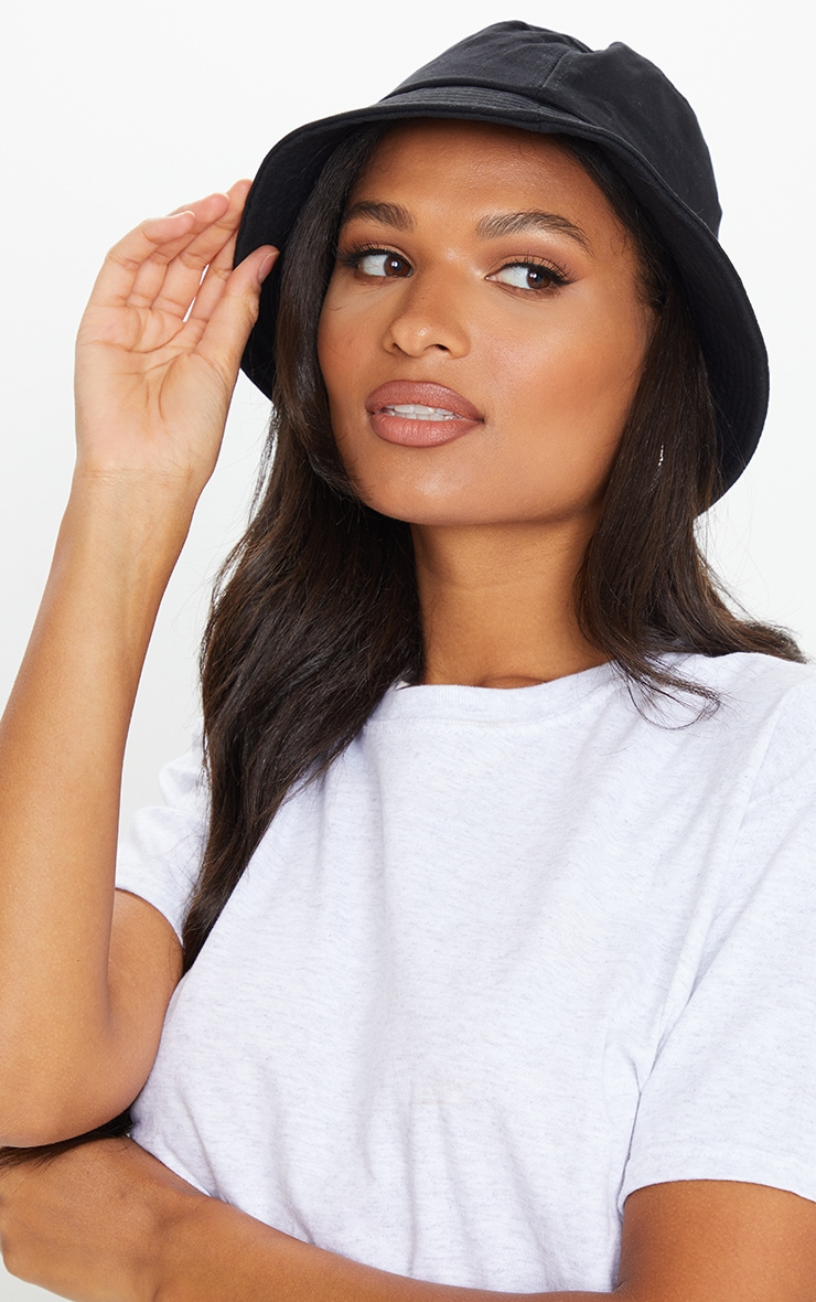 Plain Black Bucket Hat 1