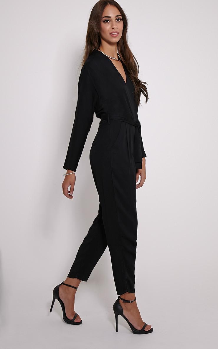 Briana Black Wrap Jumpsuit 4