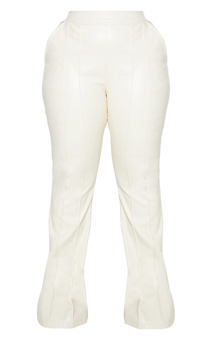 Plus Cream PU seam Detail Trouser 5