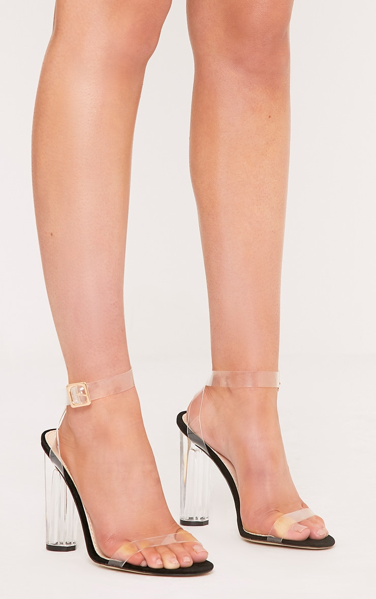 PRETTYLITTLETHING Clear Strap Heels