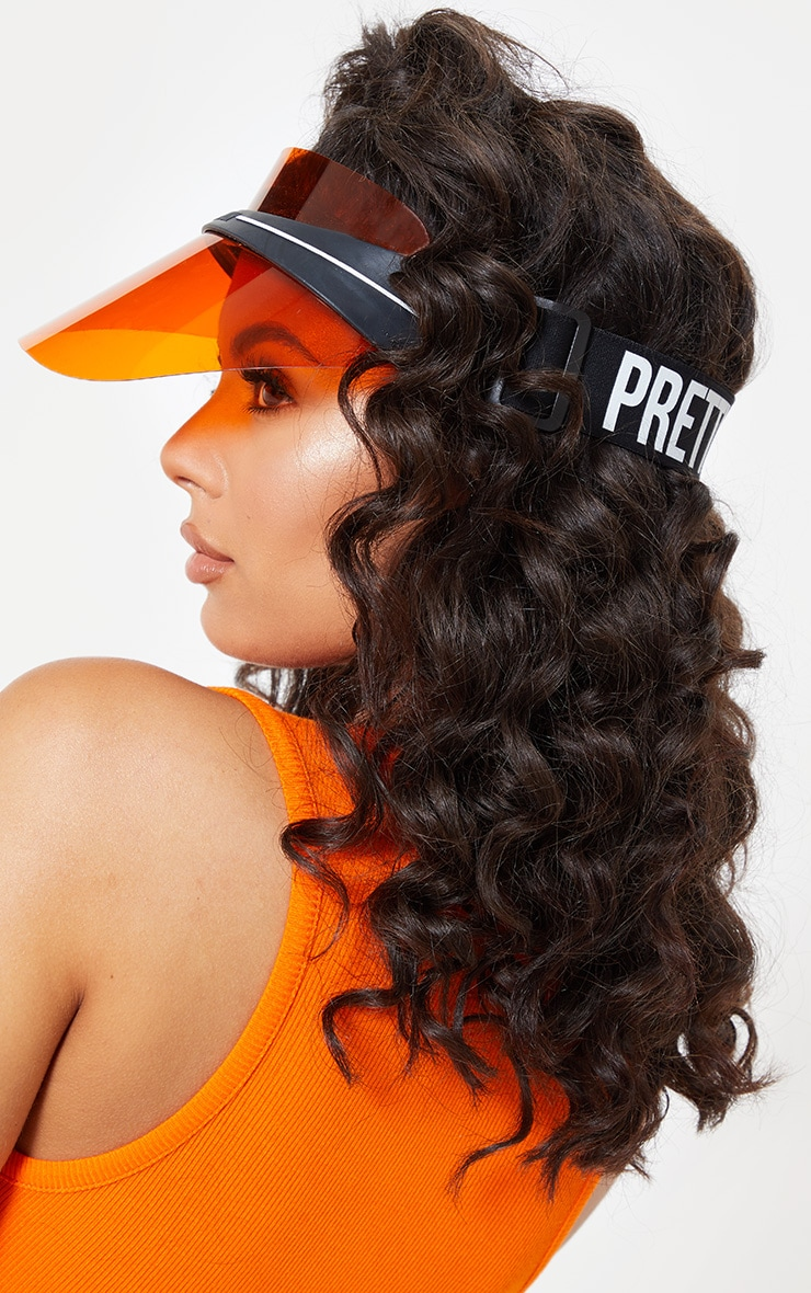 PRETTYLITTLETHING Orange Visor 1