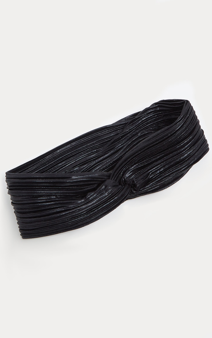 Black Twisted Headband 2