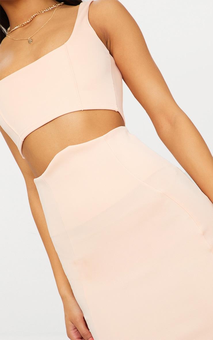 Blush Super High Waisted Midi Skirt  5