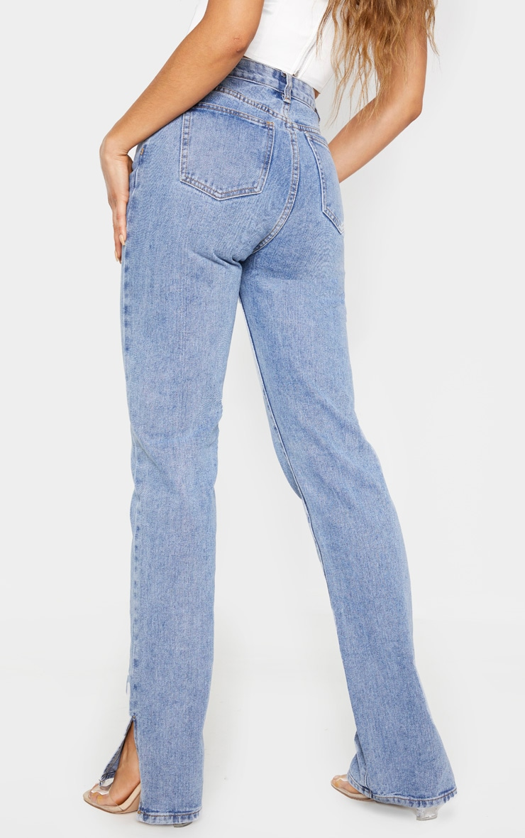 Tall Mid Wash Split Hem Jeans 5