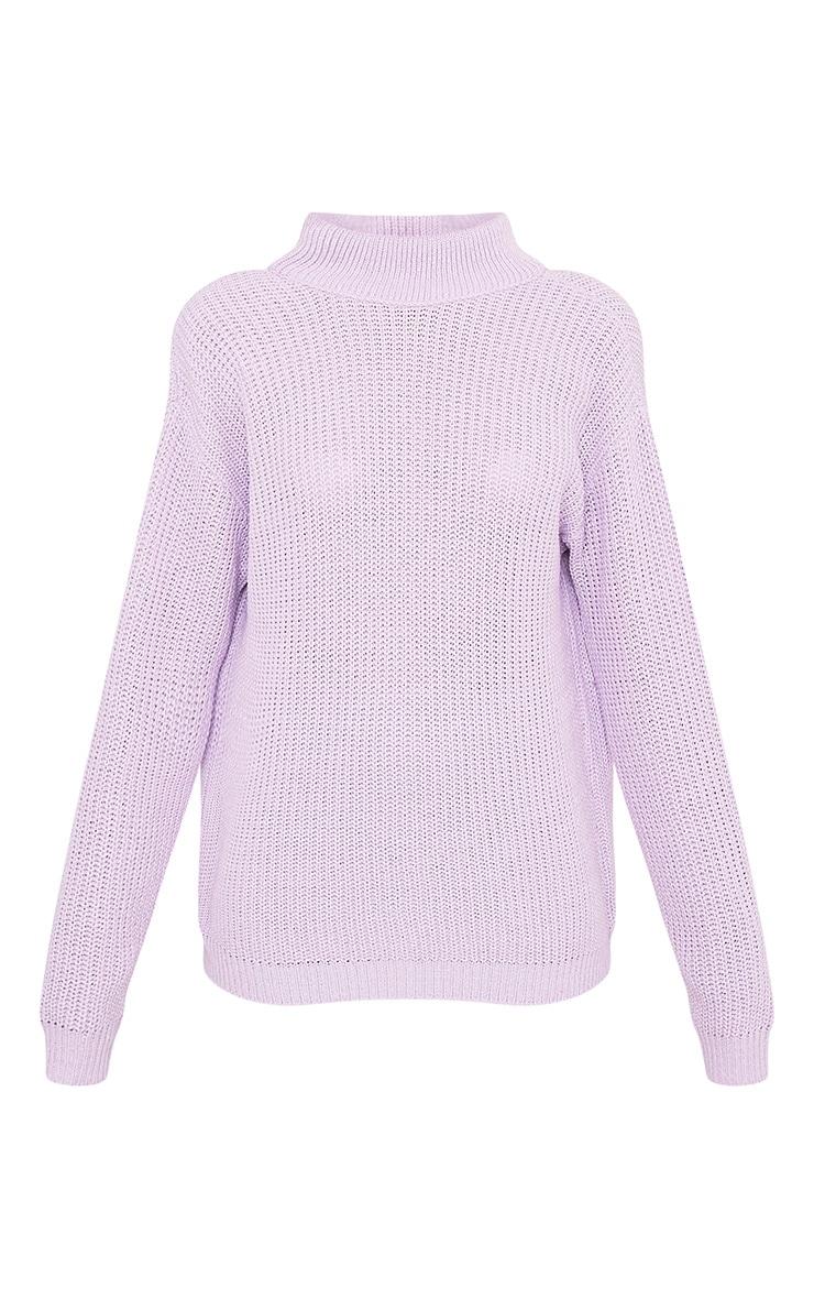 Shawnette pull tricoté lilas à découpe au dos 3