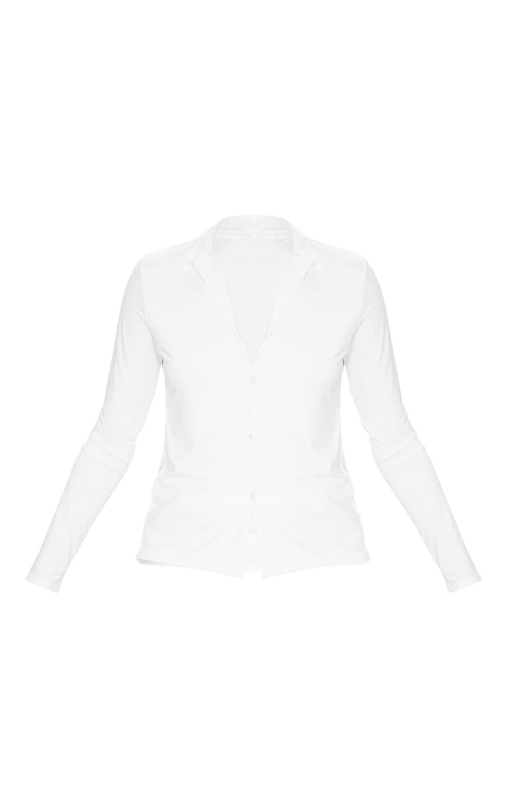 Chemise manches longues slinky blanche  5