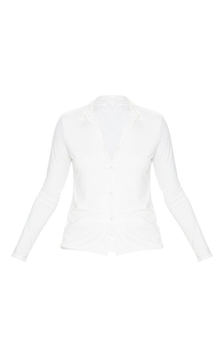 White Slinky Long Sleeve Shirt 5