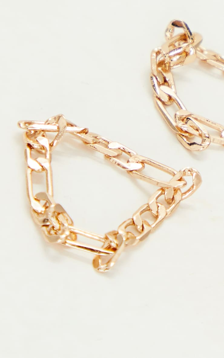 Gold Dainty Chain 2 Pack Rings 3