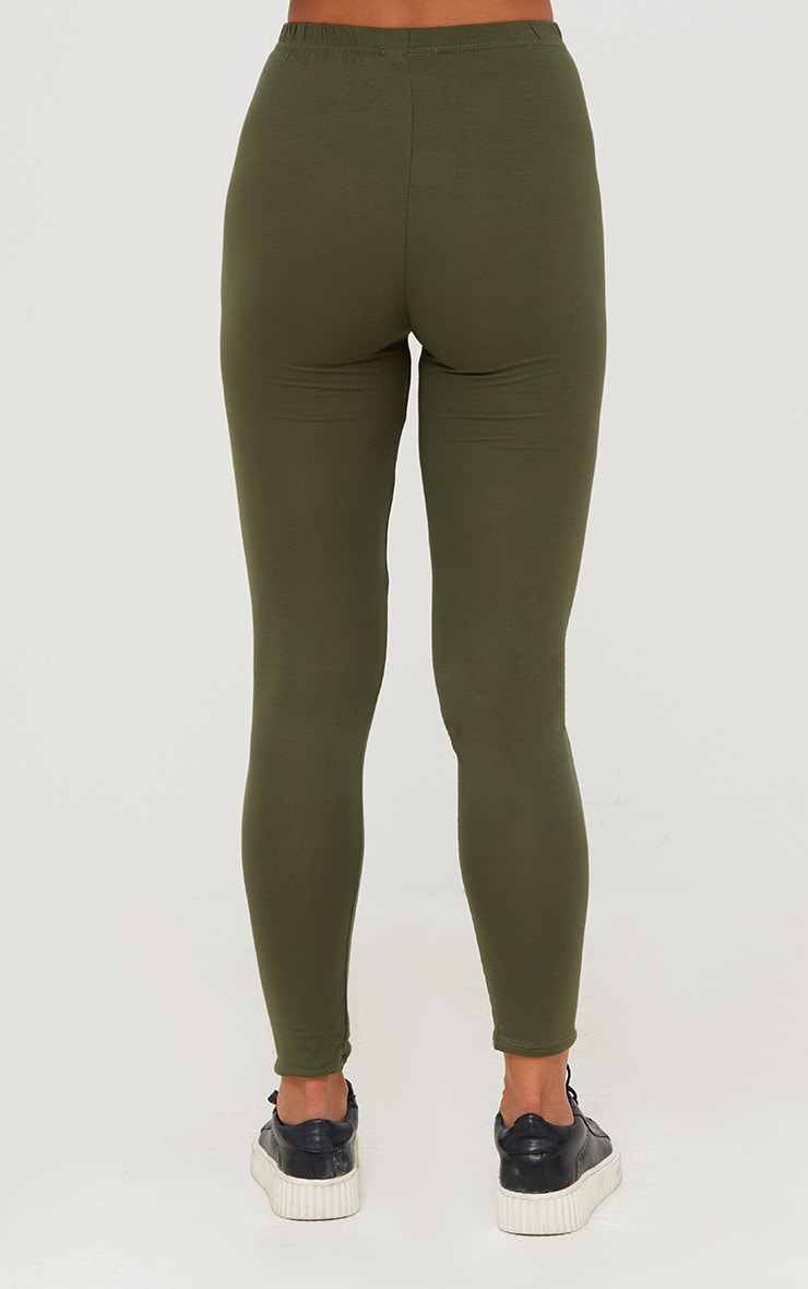 Basic Black and Khaki Jersey Leggings 2 Pack 8